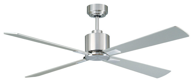 Lucci Air Climate 52 Dc Ceiling Fan Brushed Chrome Silver