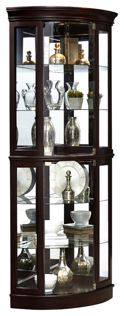 Pulaski Sable Half Round Mirrored Curio - Traditional - China Cabinets And Hutches - by ...