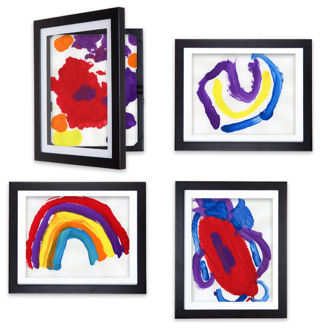 Lil Davinci Art Frames 4 Piece Set For 8 5x11 Artwork Black