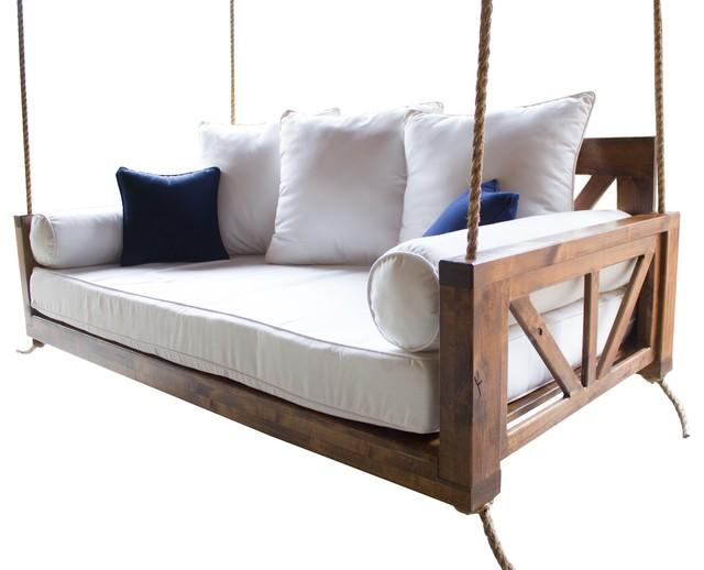 on sale 5cb5f 3b14e Avery Wood Porch Swing Bed, Charred Ember Finish, Crib Mattress Size