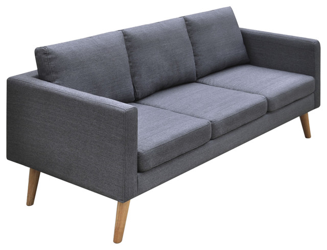 Sofa Gray Charcoal Gray Quentin Chesterfield Sofa World