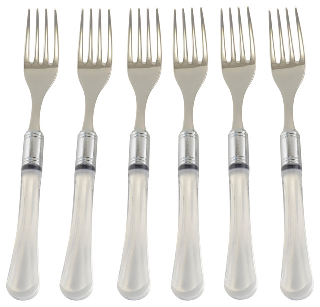 Zappiro 6 Piece Salad Fork Set Modern Flatware And Silverware Sets By Arvindgroup
