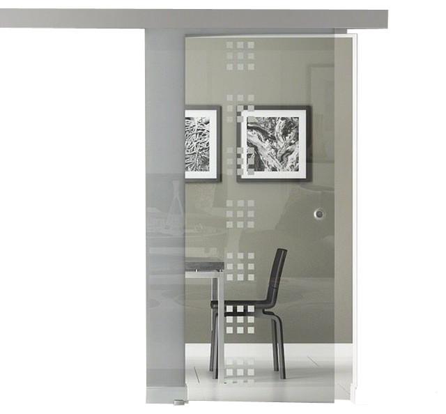 Sliding Glass Barn Door Frameless / Transparent ...