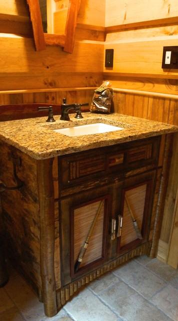 Adirondack rustic bath vanities for Adirondack bathroom design