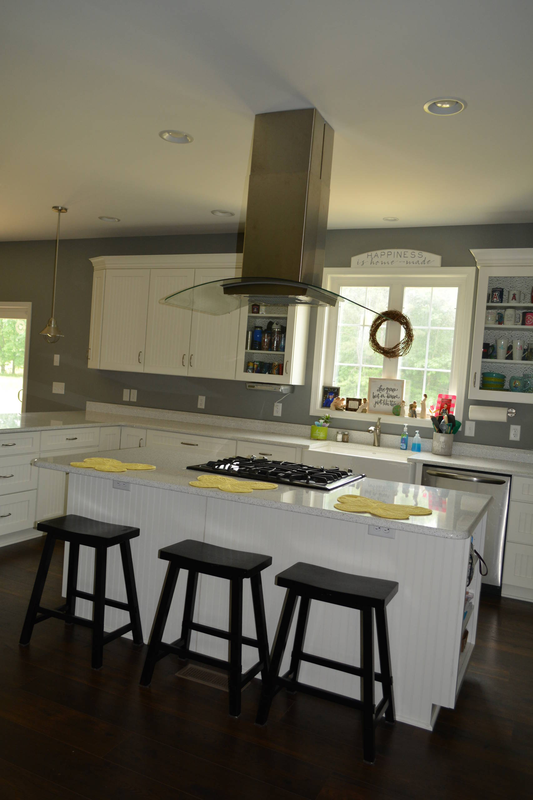 Medallion White Icing Cabinetry with Beadboard doors