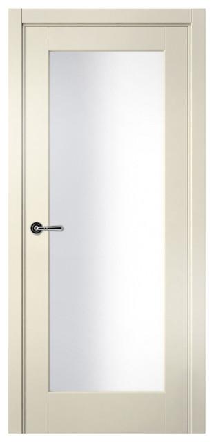 Sarto galant 7138 interior door ivory satin glass modern for 18 inch interior glass door
