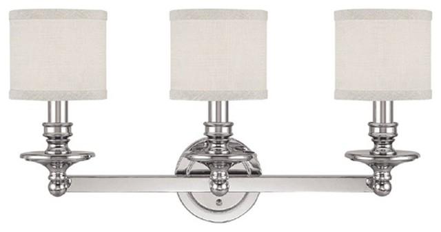 Capital Lighting 4 Light Vanity Fixture Brushed Nickel: Capital Lighting Midtown 3 Light Vanity Fixture