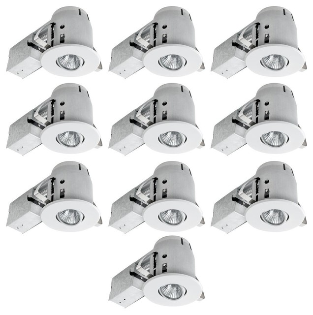 mason recessed lighting kits set of 10 white 4 contemporary