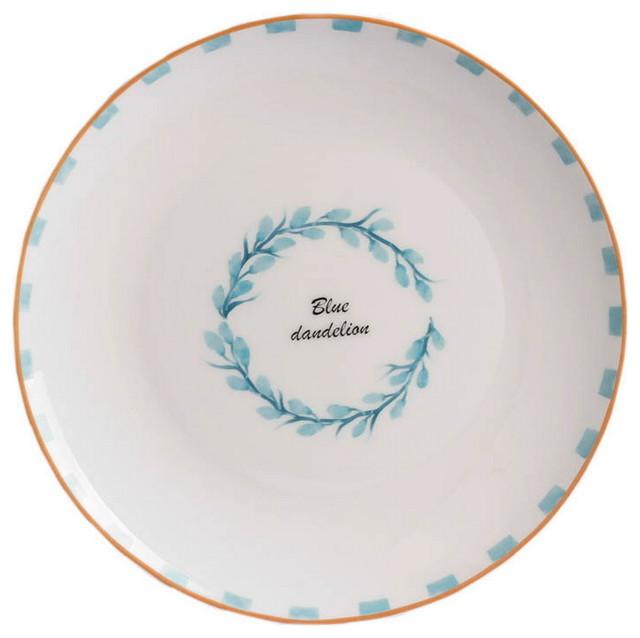 Pottery Dinner Plates Blue Dandelion Garland contemporary-dinner-plates  sc 1 st  Houzz & Pottery Dinner Plates Blue Dandelion Garland - Contemporary - Dinner ...