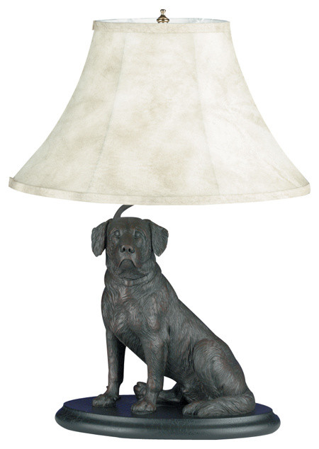 Sitting Lab Lamp Traditional Table Lamps By
