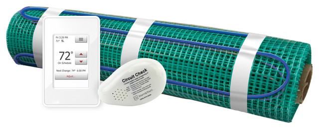 Floor Heating Kit 240v-Tempzone Flex Roll + Wifi Thermostat, 1.5&x27;w X 08&x27;l.