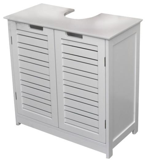 Bathroom Under Sink Storage Vanity Wood Cabinet Free Standing Wood Cabinet - Contemporary ...