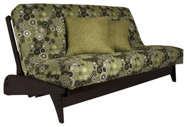 dillon black walnut queen transitional futon frames dillon black walnut full   transitional   futon frames   by strata      rh   houzz