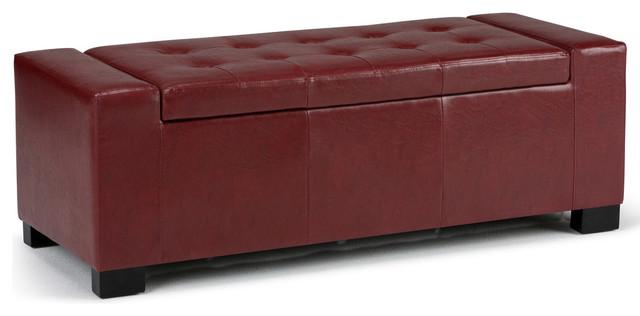 Fine Laredo Large Rectangular Storage Ottoman Bench Radicchio Red Lamtechconsult Wood Chair Design Ideas Lamtechconsultcom