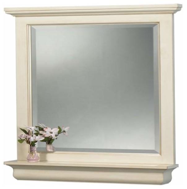 Foremost Cottage 24 Inch Mirror Premium Antique White Finish Bathroom Mirrors