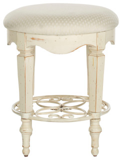 Safavieh Melissa White Vanity Stool Farmhouse Vanity