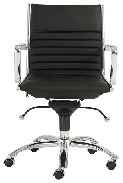 Dirk Low Back Office Chair Black Chrome