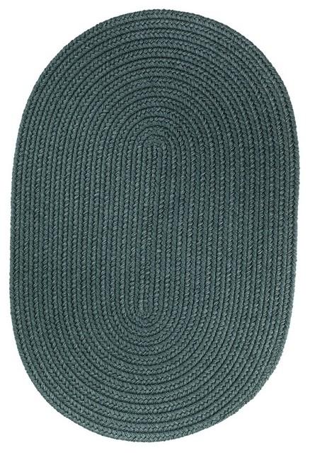 Rhody Rug Wearever Poly Rug Teal 2 X3 Oval Outdoor
