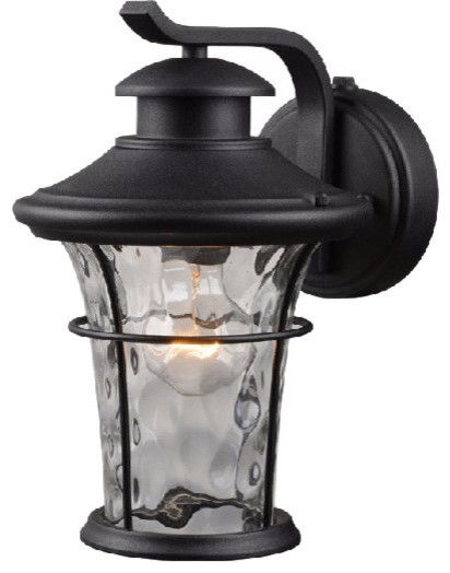 Hardware House Lantern Textured Black Transitional Outdoor Wall Lights And