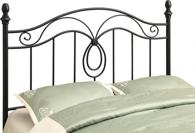 Bed, Queen Or Full Size, Black Headboard Or Footboard.