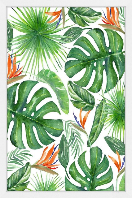 Tropical Leaves I Framed Painting Print Tropical Prints And Posters By Marmont Hill Find over 100+ of the best free tropical images. tropical leaves i framed painting print 24 x36