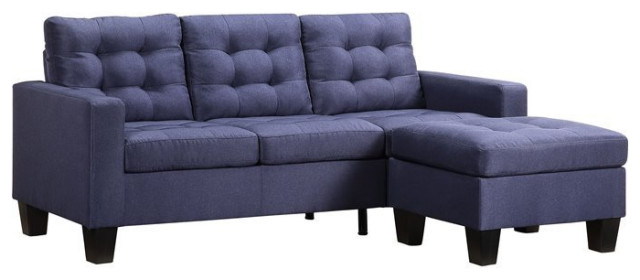 Earsom Sectional Sofa Rev Chaise In, Large Linen Fabric Sectional Sofa With Left Facing Chaise Lounge