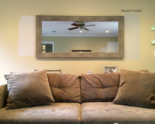 Revere pewter go with taupe sofa ceiling color for What goes with taupe