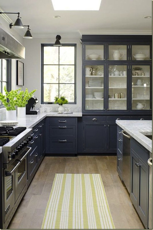 painting inside of glass front cabinets color - Paint Inside Kitchen Cabinets