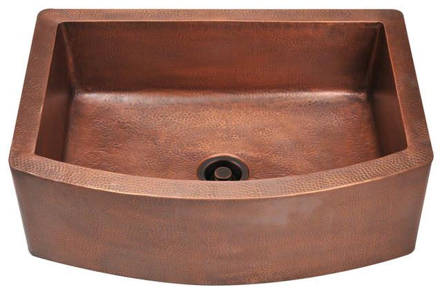 Single Bowl Copper Apron Sink, Sink Only.