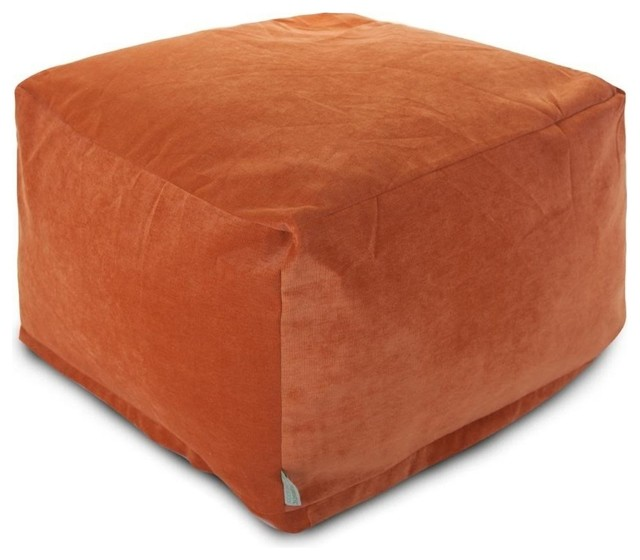 Large Orange Floor Pillows : Villa Large Ottoman - Transitional - Floor Pillows And Poufs - by Majestic Home Goods, Inc.