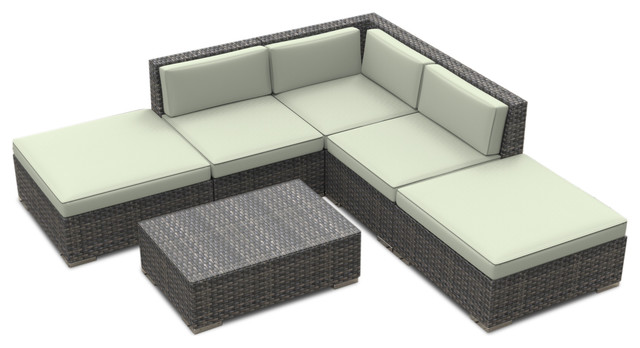 Bali Outdoor Patio Furniture Sofa Sectional 6 Piece Set Tropical Lounge Sets By Urban Furnishing