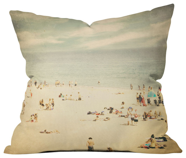 Beach Style Outdoor Cushions : Shannon Clark Vintage Beach Outdoor Throw Pillow - Beach Style - Outdoor Cushions And Pillows ...