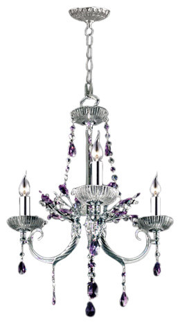 Dale Tiffany 3 Light Rowley Chandelier In Polished Chrome