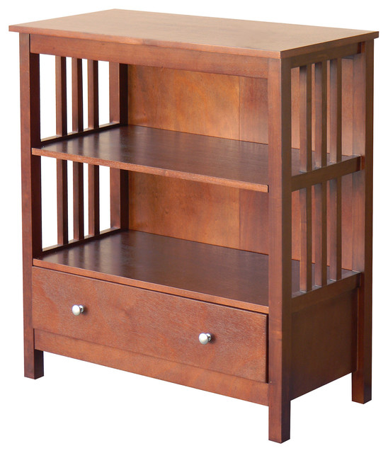 mission style 4 tier open bookcase cherry with doors headboard chestnut craftsman bookcases