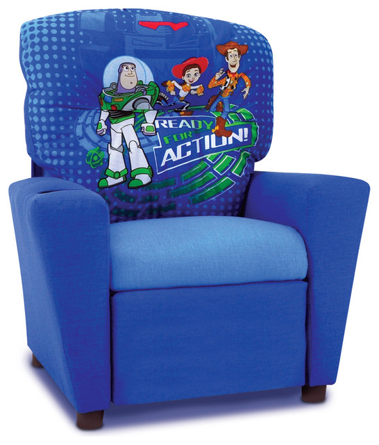 Toy Story 3 Kids Recliner in Blue contemporary-kids-chairs  sc 1 st  Houzz : childrens recliner chairs - islam-shia.org