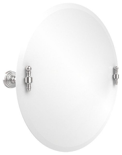 22 Round Tilt Mirror Polished Chrome Transitional Bathroom Mirrors By Avondale Decor Llc