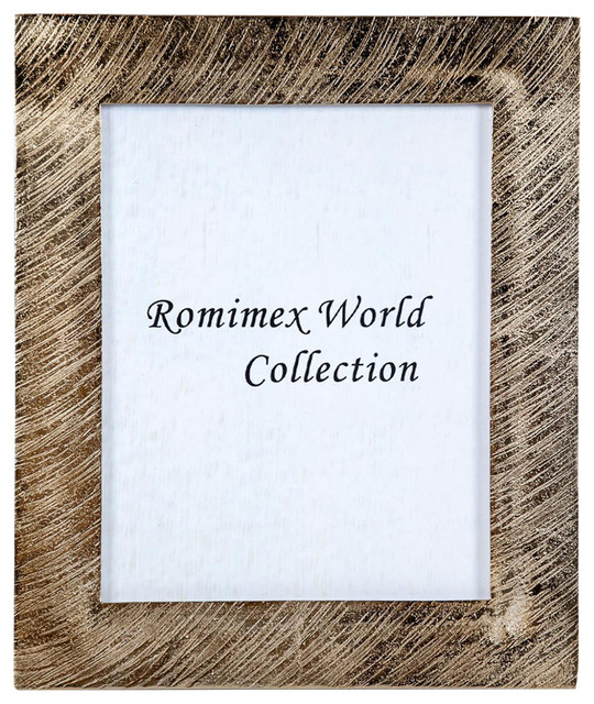 Gold aluminium picture frame 15x20 cm transitional - Romimex world ...