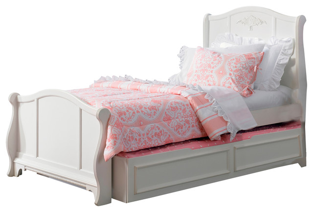 Houzz White Twin Sleigh Bed Pictures