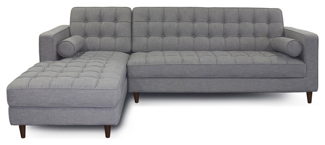 Charles Sectional Sofa, Willow Gray, Left Facing.