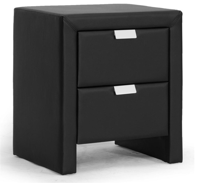 Baxton Studio - Contemporary Upholstered Nightstand - View in Your Room! | Houzz