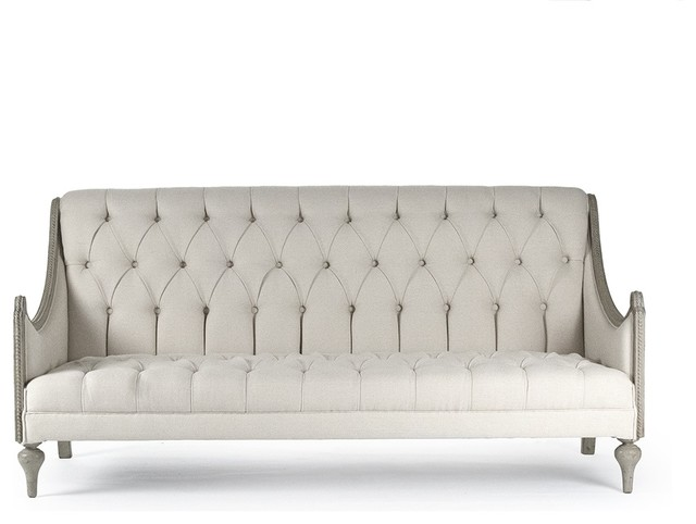 Sofa, Walsh, Tufted Linen.