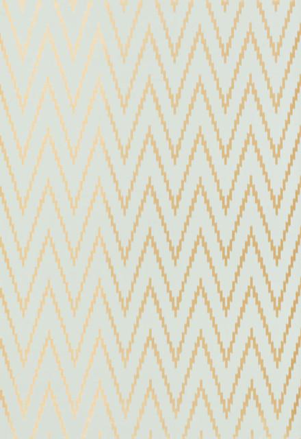 Kasari Ikat Wallpaper, Aquamarine