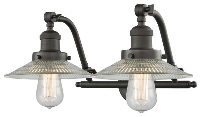 "Innovations Lighting 515-2W Halophane Halophane 2 Light 18"" Wide Bathroom Vanit"