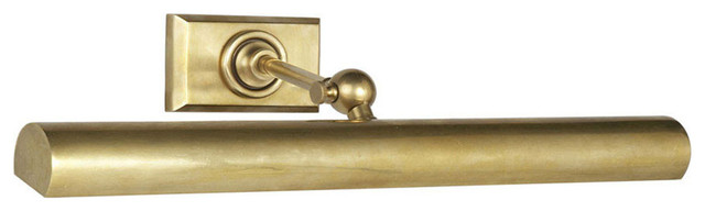 """18"""" Cabinet Maker's Picture Light, Hand-Rubbed Antique Brass"""