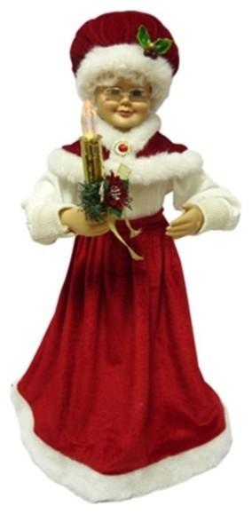 4 Seasons Global Inc Mrs Santa Candle 24 Quot Amp Reviews