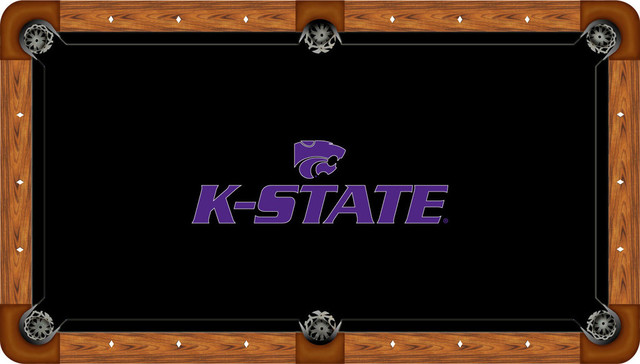 Wave 7 K State Wildcats Emblem Black Felt With Side Rails