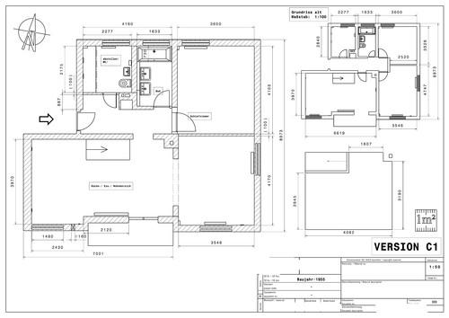 umgestaltung geschlossener grundriss 50er 2016 offenes wohnen. Black Bedroom Furniture Sets. Home Design Ideas