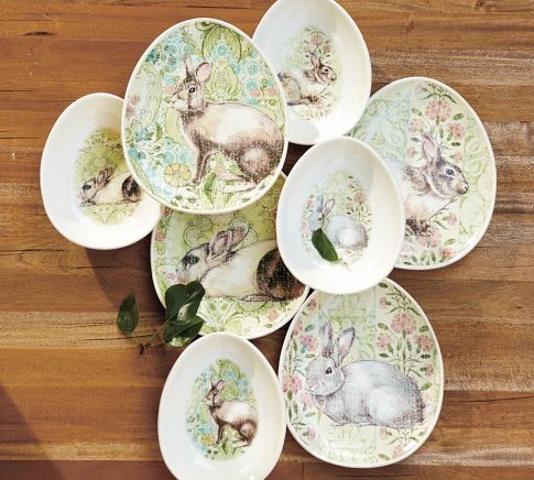 Looking For Easter Bunny Egg Shaped Salad Plates