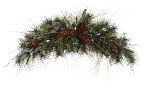 Eucalyptus Berries and Pine Cone Artificial Christmas Swag