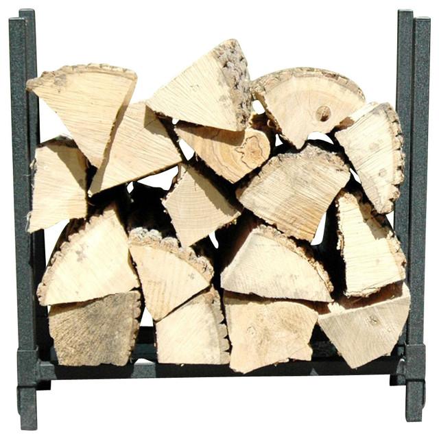 fireside 2 foot firewood rack in black - Firewood Racks